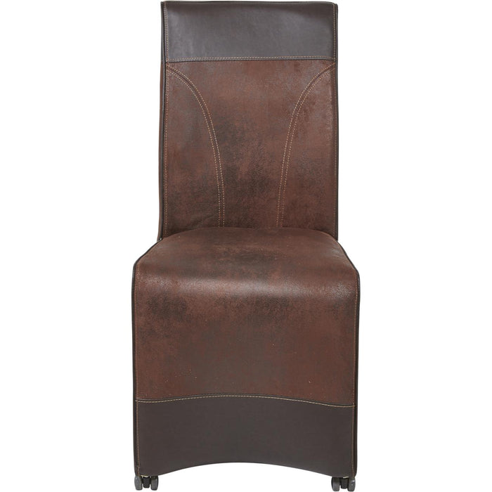 Chaise 55236MA - MENPHIS Marron - Lot de 2
