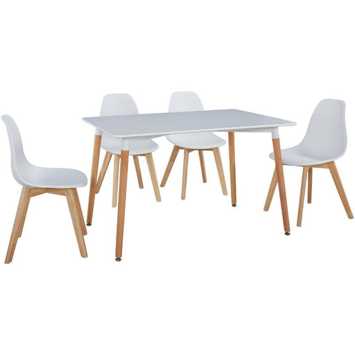 Ensemble Chaise + Table 16120BL - MARCO Blanc - Lot de 1