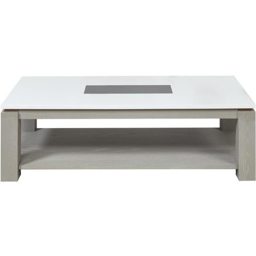 Table basse 10134GB - PLYMOUTH Gris & Blanc - Lot de 1