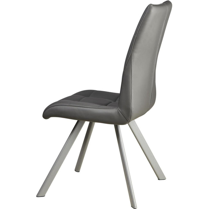 Chaise 52871GR - COCOON Gris - Lot de 2