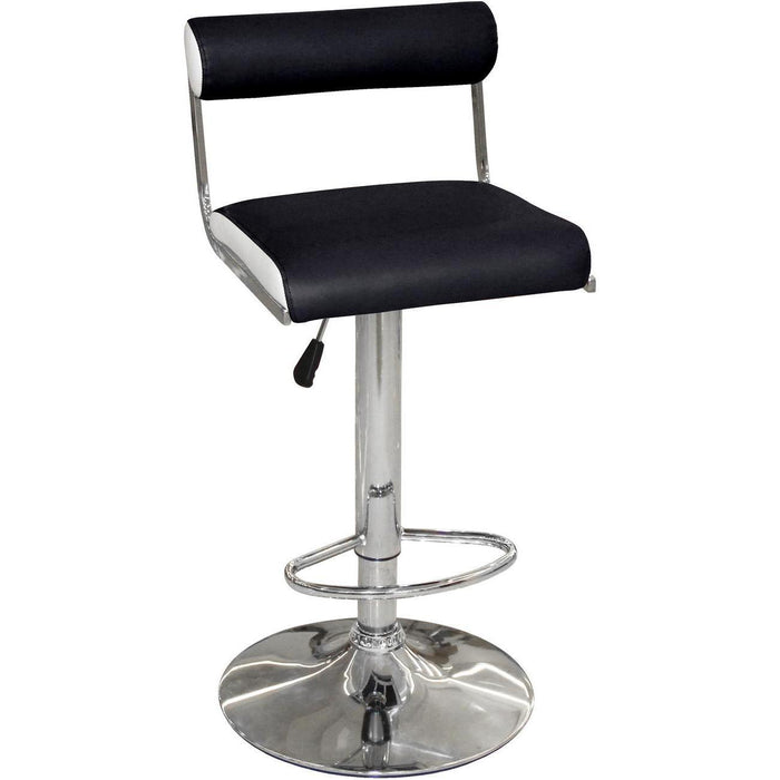 Tabouret de bar 47759NB - PALMA Noir & Blanc - Lot de 2