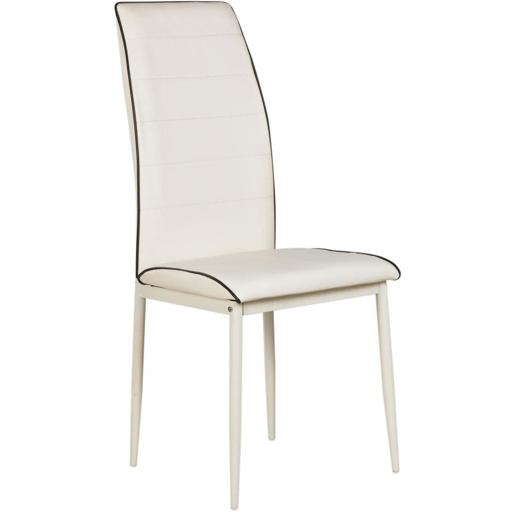 Chaise 11431BL - TENDANCE Blanc - Lot de 4