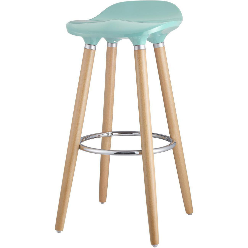 Tabouret de bar 47765BU - OSLO Bleu - Lot de 1