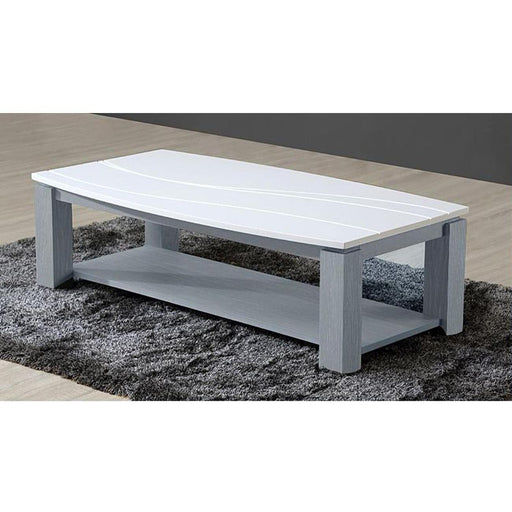 Table basse 10655GR - OCEANIA Gris & Blanc - Lot de 1