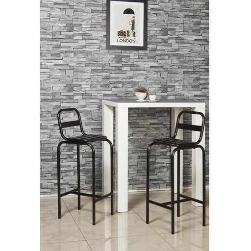 Tabouret de bar 42703NO - COBALT Noir - Lot de 2
