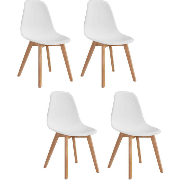 Chaise 16150BL - SACHA Blanc - Lot de 4