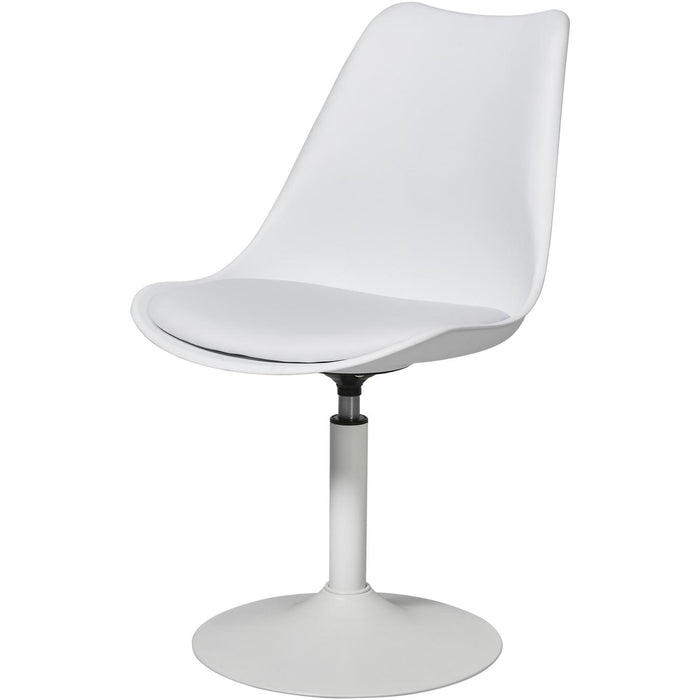 Chaise 40410BL - STEEVY Blanc - Lot de 2