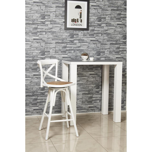 Tabouret de bar 27354BL - ST GERMAIN Blanc - Lot de 1