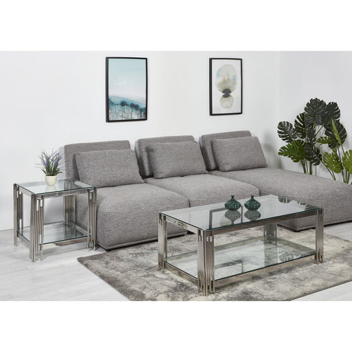 Table basse 31511CR - DARWIN Gris - Lot de 1