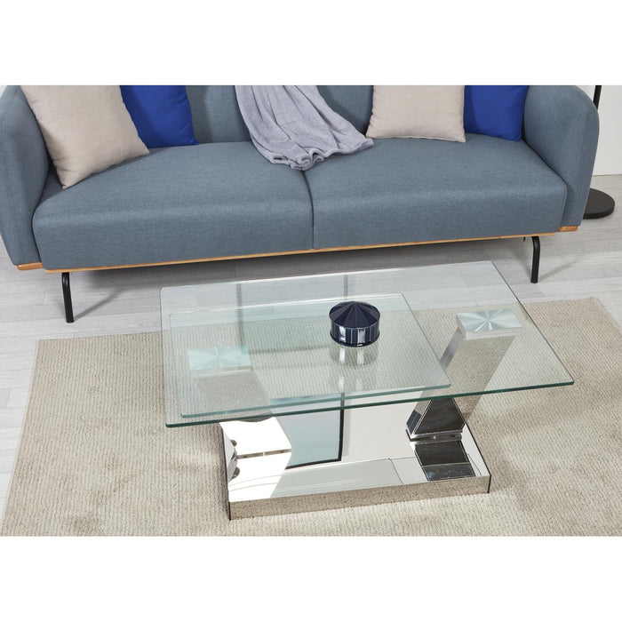 Table basse 28611CR - QUEENSTOWN Gris - Lot de 1