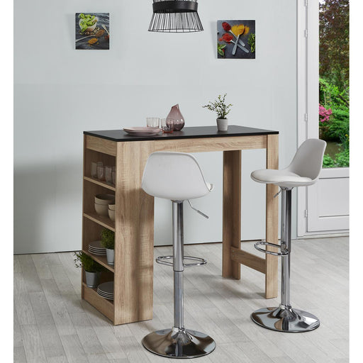 Tabouret de bar 22633BL - EVA Blanc - Lot de 2