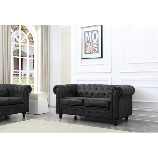 13894NO - Sofas Hiraki Black