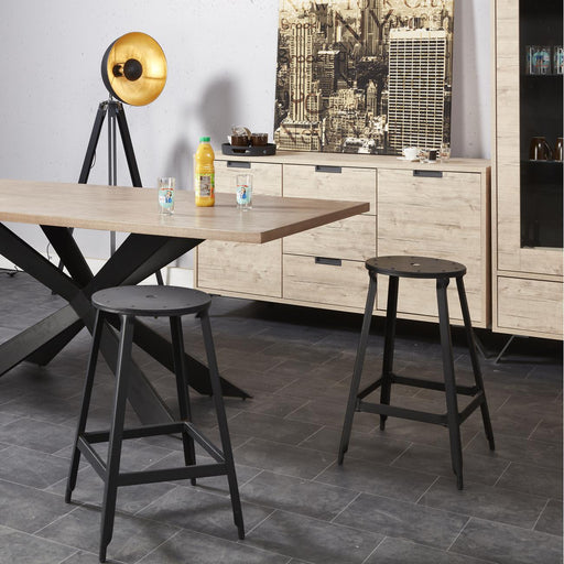 Tabouret de bar 42706NO - MANUFACTURE Noir - Lot de 2