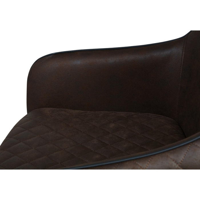 Chaise 31516CH - KOTA Marron - Lot de 2