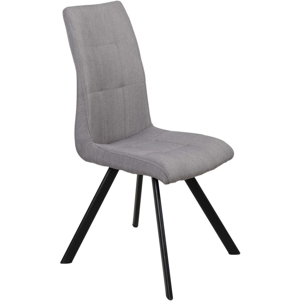 Chaise 52873GR - COSY Gris - Lot de 2