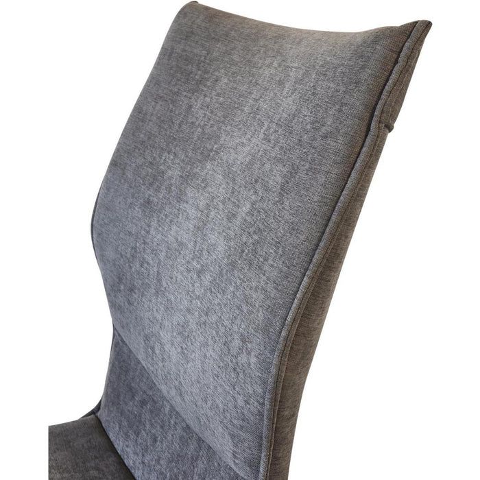 Chaise 55126GA - TWIST Gris - Lot de 4