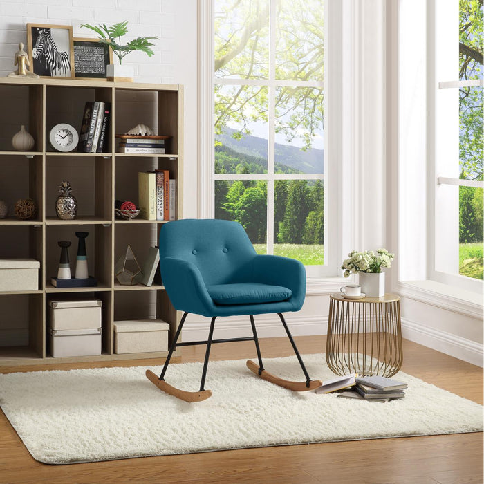 Rocking chair 61120BU - JENS Bleu - Lot de 1