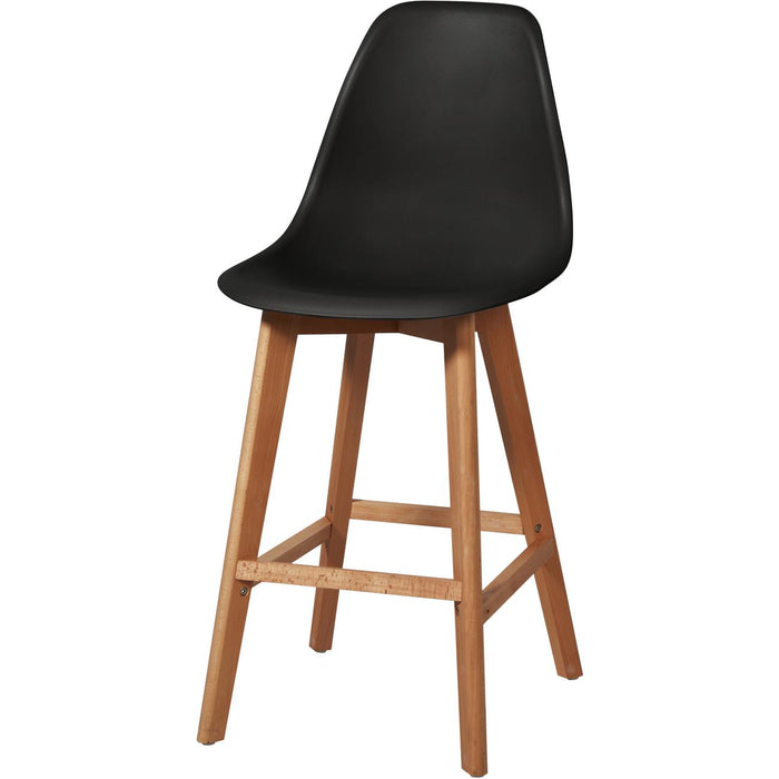 Tabouret de bar 16153NO - SACHA Noir - Lot de 2