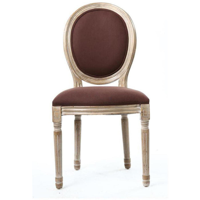 Chaise 47771CH - MEDAILLON Marron - Lot de 2