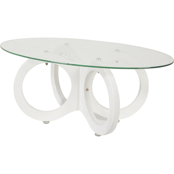 Table basse 31625BL - CHLOE Blanc - Lot de 1
