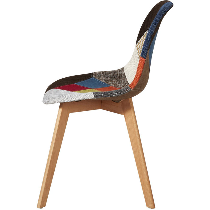 Chaise 16139MC - PATCHWORK Multicouleur - Lot de 2