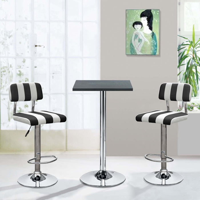 Tabouret de bar 47756NB - FRADJI Noir - Lot de 2