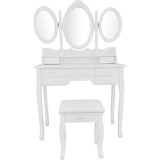 Table d'appoint 22460BL - Beauty Blanc - Lot de 1