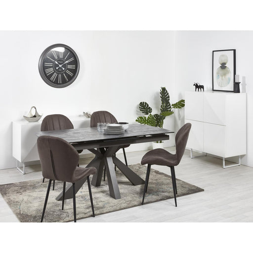 Table de repas 21183GR - PORTLAND Gris - Lot de 1