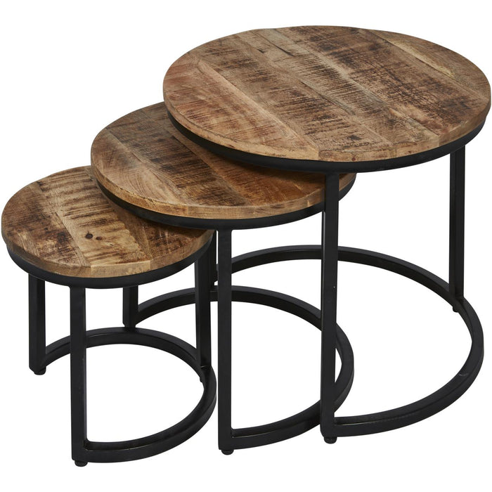Table d'appoint 51910NY - Bangalo Marron - Lot de 1