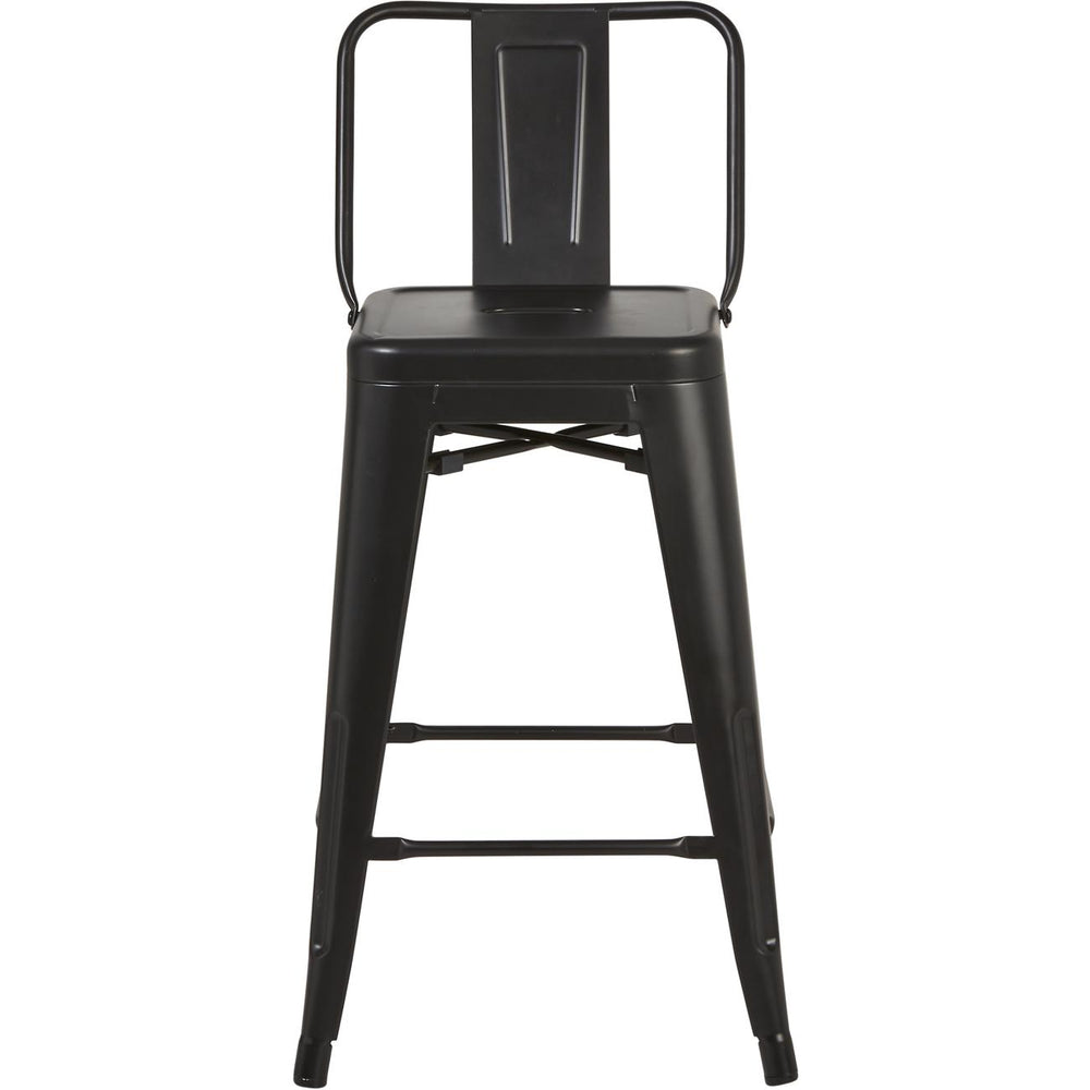 Tabouret de bar 70100NO - FACTORY Noir - Lot de 4