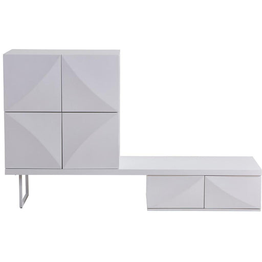 Meuble TV 55116BL - GALAXIE Blanc - Lot de 1