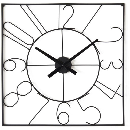 Deco horloge 67231NO - Alban Noir - Lot de 1