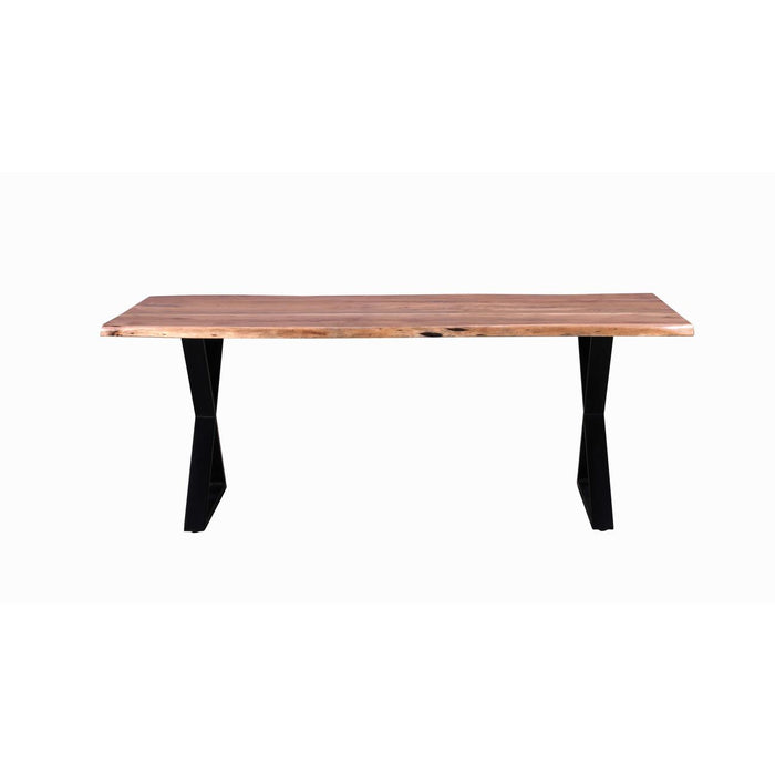 Table de repas 29747NO - Goa XL Cross Marron - Lot de 1