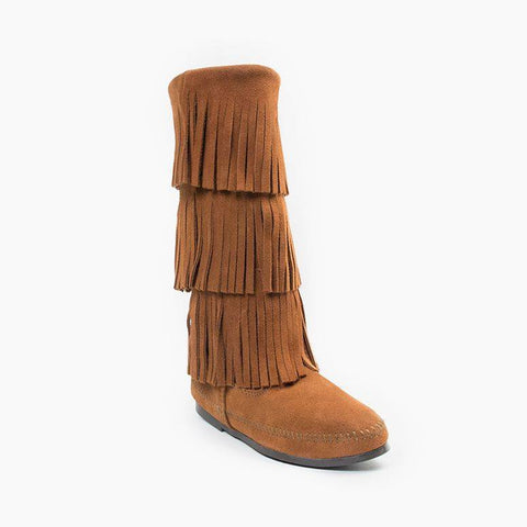 Fringe 3-Layer Moccasin Boot