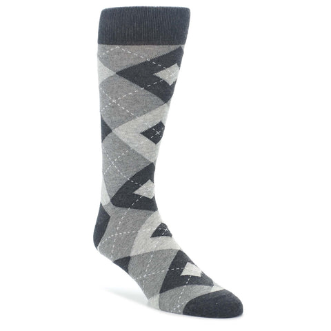 Argyle Socks - Heathered Grey