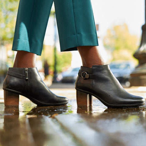Perry Burnished Waterproof Heeled Bootie
