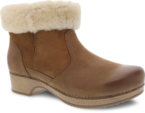 Bettie Nubuck Shearling-Lined Boot