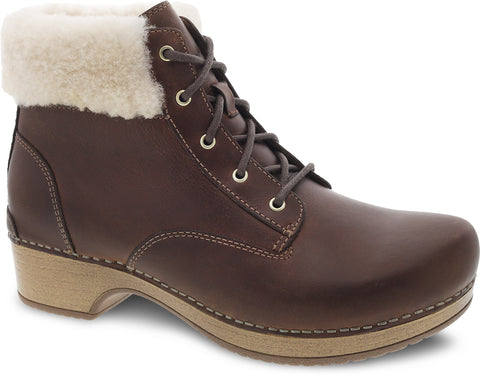 Bailee Oiled Leather Lace Up Boot