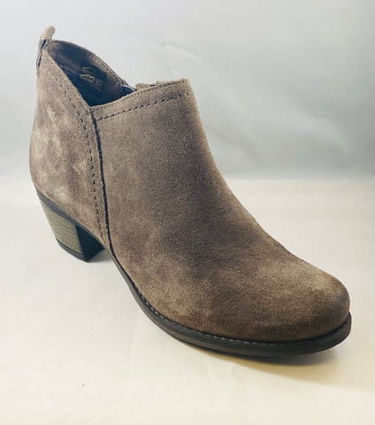 Michelle Nubuck Zippered Bootie