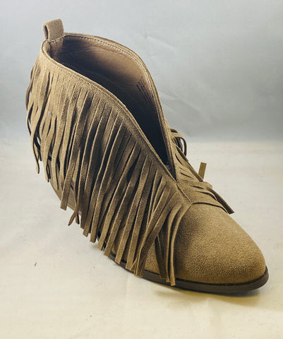 "TM X Mattalou ""Carrie"" Fringed Bootie"