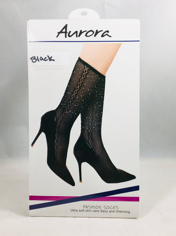 Aurora Lace Gem Studded Socks