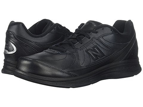 Women's 577 Black Lace Up Walking Shoe