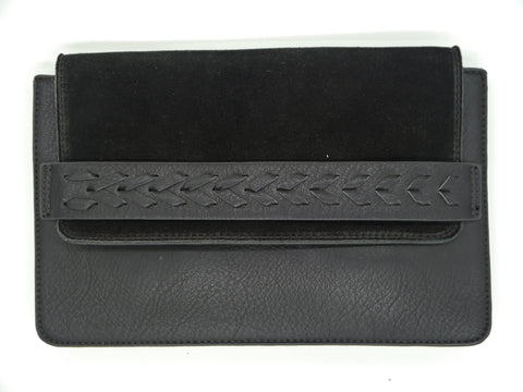 """Magnis"" Leather Braided Clutch"