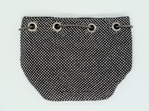 """Fitz""  Full Rhinestone Pouch Bag"