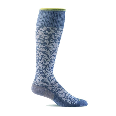 Damask Moderate Graduated Compression Socks