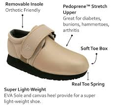 1 Strap Velcro Oxford Beige (WIDE Widths)