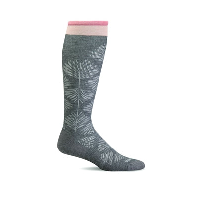 Full Floral Moderated Graduated Compression Socks