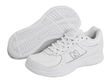 Men's 577 White Lace Up Walking Shoe
