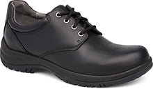 Walker Black Slip Resistant Leather Oxford