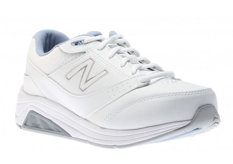 Women Walking Lace Up 928 White and Blue V3